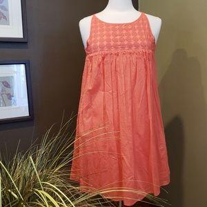 J. CREW Coral Babydoll Tank Dress Size S
